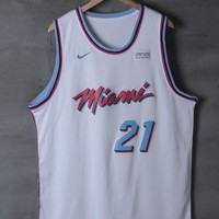 Miami Heat #21 Hassan Whiteside Nike City White Edition NBA Jerseys - Best Deal Online