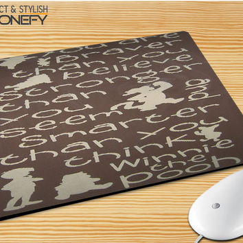 Winnie The Pooh Quotes 4 Mousepad Mouse Pad|iPhonefy