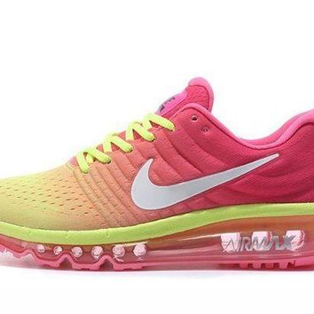 PEAPONVX Jacklish Ladies Nike Air Max 2017 Gs Racer Pink/white-ghost Green Cheap Price