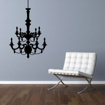"Chandelier Room Vinyl Wall Decal Graphics 25""x16"" Bedroom Decor"