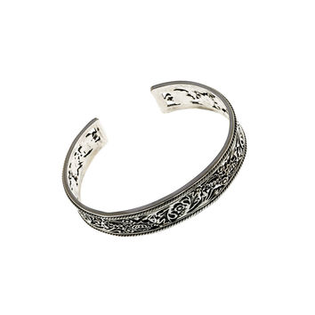 William Morris Hyacinth Sterling Silver Cuff