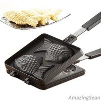 Fish Shaped Waffle Pan, Taiyaki Pan, Cake Pan, Korean Family Home Cooking Food