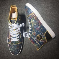 Christian Louboutin CL Style #2116 Sneakers Fashion Shoes Best Deal Online