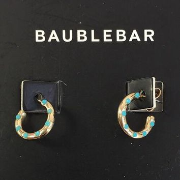 Baublebar Turquoise Hoop Earrings