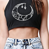 LA Hearts Moon Two-Tie Cropped Halter Tank Top at PacSun.com