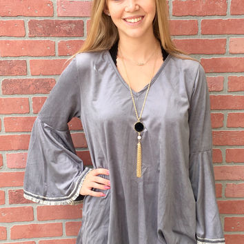 So Slate Tunic - Grey