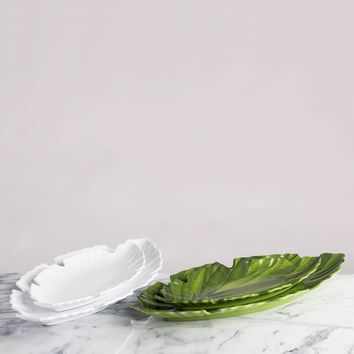 Zen Leaf Melamine Serving Platters