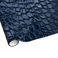 Alligator Blue Faux Leather