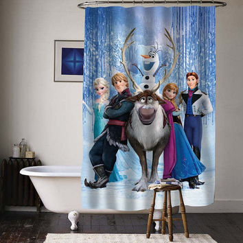 disney frozen special custom shower curtains available size