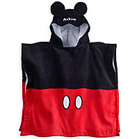 Mickey Mouse Hooded Towel for Boys - Personalizable