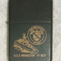 USS Bronstein FF 1037 Zippo Navy Frigate Lighter Black Matte Windproof Decommissioned  Military Escort Ship Collectible Naval Militaria