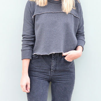 Oragnic Cotton Sweatshirt Crew Neck by Desire Lines