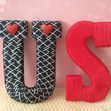 Handmade Decorative Letter Set-by Tightly Wound Designs