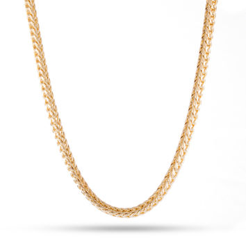 Men's 14K Yellow Gold Plated Franco Chain