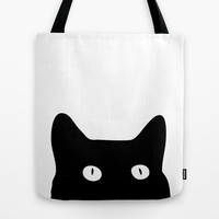 Black Cat Tote Bag by Good Sense