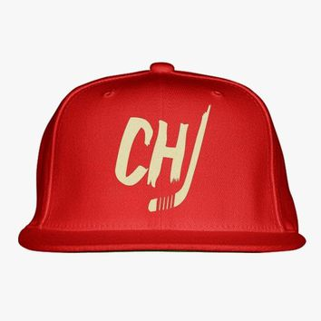 Chicago Blackhawks Embroidered Snapback Hat
