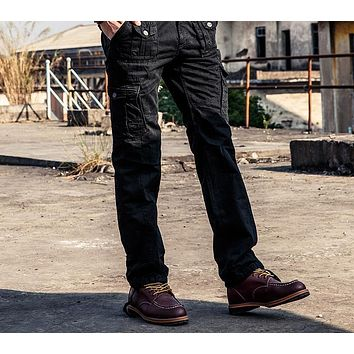 Men Tactical Spring New Arrival Multi Pocket Cargo Pants Casual Male Joggers Cotton Long Trousers