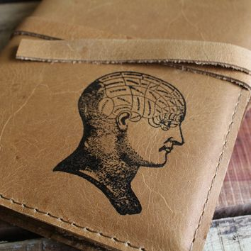Head Diagram Leather Journal
