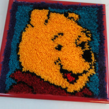 Handmade Winnie the Pooh framed pic excellent condition wonderful piece