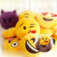Styles Soft 20 Emoji Smiley Emoticon Yellow Round Cushion Pillow Stuffed Plush Toy Doll Christmas Present = 1930520580