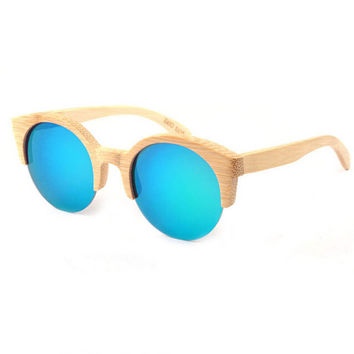 handmade bamboo  cat eyes sunglasses + bamboo box 18