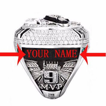 Drop Shipping Good Quality  For 2018 Philadelphia eagle Put Your Name Championship Ring for Fans