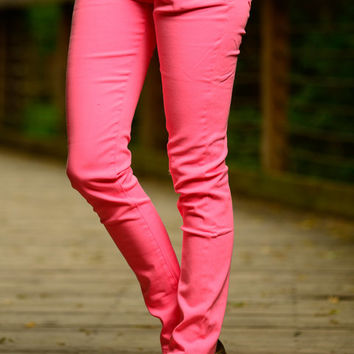 The Taylor Skinny Jean, Neon Pink