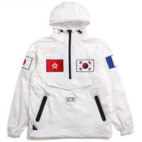 Internationalist Nylon Pullover Jacket White