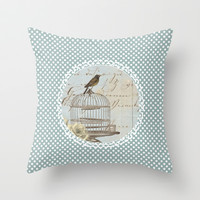 Free Bird Throw Pillow by Ally Coxon