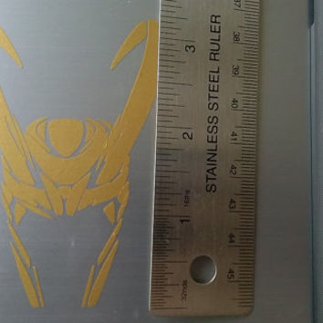 The Avengers Loki Helmet Video Game Decal / Vinyl Die Cut Special Gold Advanced iPad Car Notebook Decal Sticker