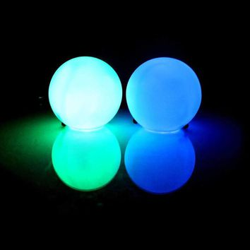 EDMPlug Led Ball Poi Set - Light Up Poi Ball Set - 9 Modes - 7 Colors