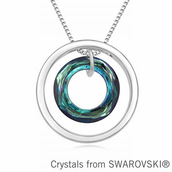 Circle Pendant Necklace made with SWAROVSKI ELEMENTS