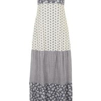 Tiered Floral Print Maxi Dress by Topshop Archive - Multi