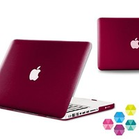 """iBenzer Neon Party Series Smooth Finish Case for Macbook Pro 13"""" - Wine Red"""