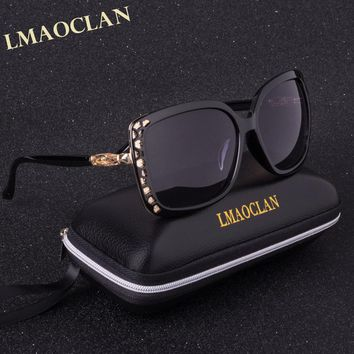 LMAOCLAN Brand Design Luxury Polarized Sunglasses Women Ladies Gradient Sun Glasses Female Vintage oversized Eyewear UV400
