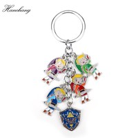 HANCHANG Jewelry The Legend of Zelda Keychain Figures Keyring Cartoon Anime Pendants friend accessories Children Christmas Gift