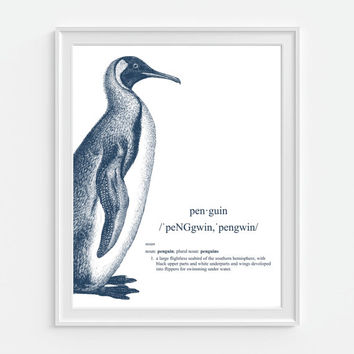 Best penguin wall decor products on wanelo for Best brand of paint for kitchen cabinets with seashell prints wall art