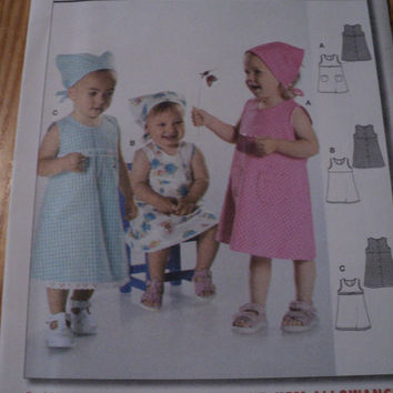 Sewing Pattern Burda 9750 Infant Toddler Dresses 3 Styles