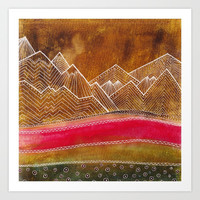 Lines in the mountains 01 Art Print by vivianagonzlez