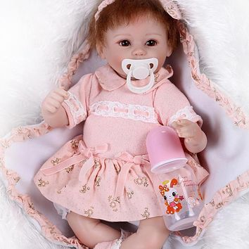 Simulation Lifelike Reborn Baby Doll Realistic Silicone Newborn Baby Doll Cosplay Kids Pretend Play Toy Child Gift for Girl