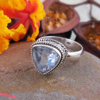 Color Changing Alexandrite (Lab) Sterling Silver Ring – Size 7.25