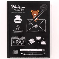 black Rilakkuma Factory bear pen envelope 6-pocket A4 / A3 file folder - Folder - Stationery