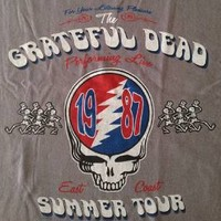 "New! Grateful Dead ""East Coast Summer"" Classic Rock Band Licensed Adult T-Shirt"