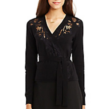 DVF Ballerina Lace Wrap Sweater