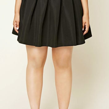 Plus Size Pleated Skirt