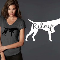 German Shorthaired Pointer Dog Personalized T-shirt