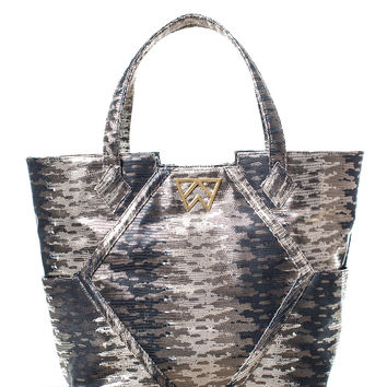 Paint the Town Tote in Groovy Metal Gecko