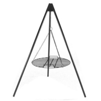 """Fire Pit Tripod Grill w/ 22"""" Cooking Grate"""