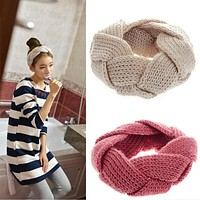 Crochet Twist Knitted Headwrap Winter Warmer Hair Band for Women clothing Accessories headband 9 colors