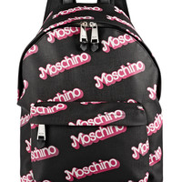 Moschino - Printed textured-PVC backpack
